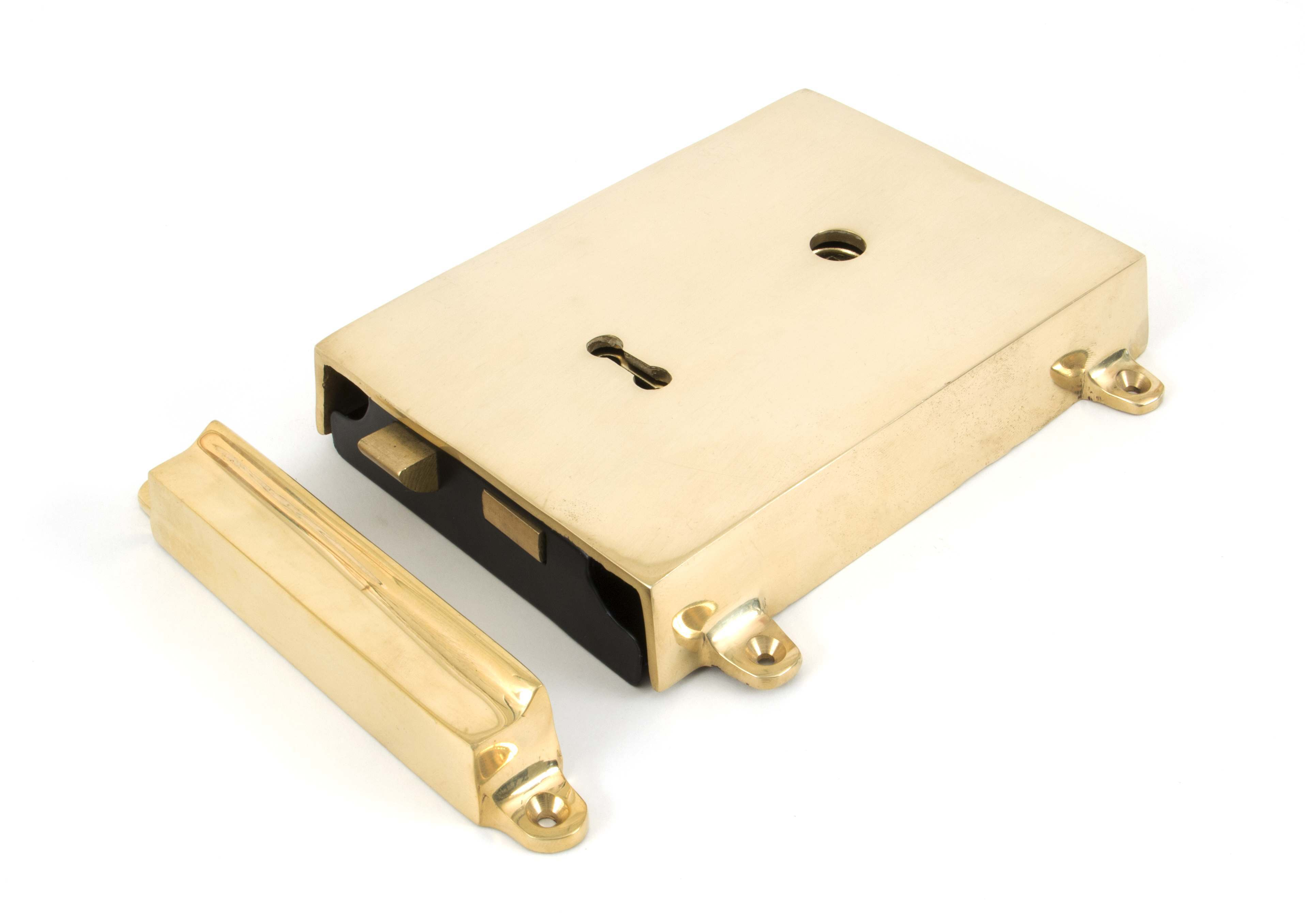 From the Anvil Rim Lock & Cover Polished Brass