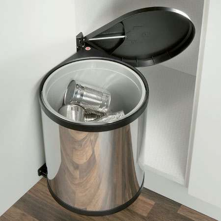 Hafele 455mm Mono Waste Bin Stainless Steel