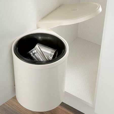 Hafele 455mm Mono Waste Bin Cream