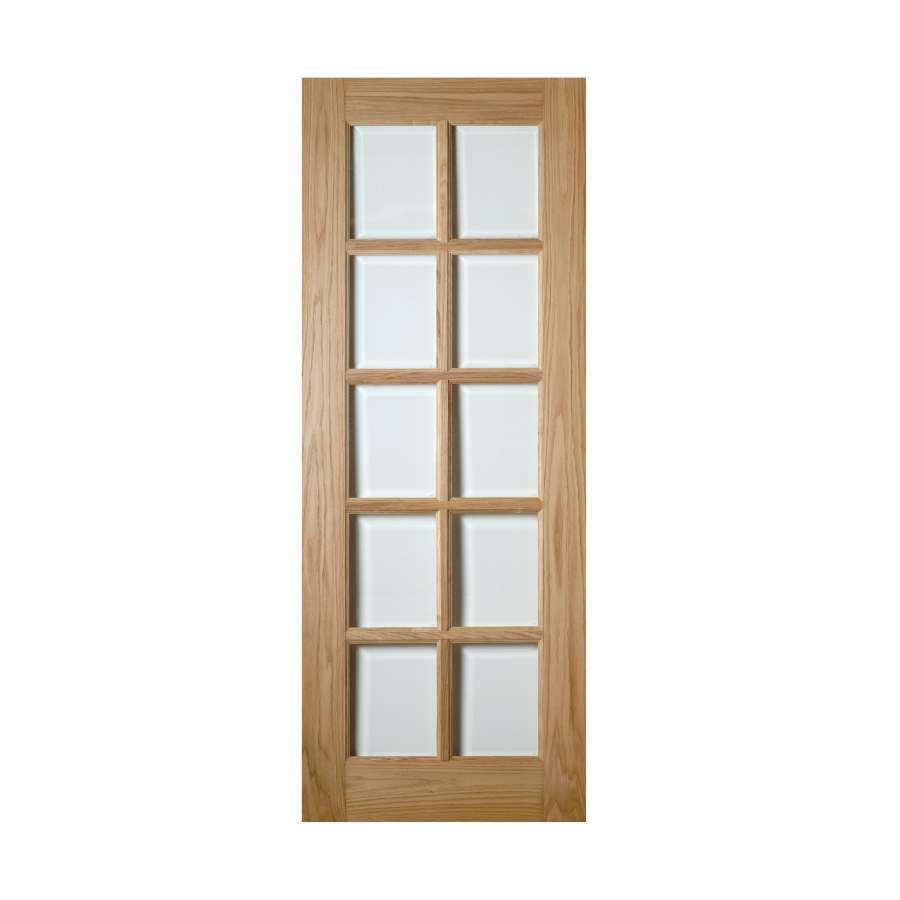 Deanta Bristol 1981mm x 838mm Glazed Internal Oak Door Unfinished