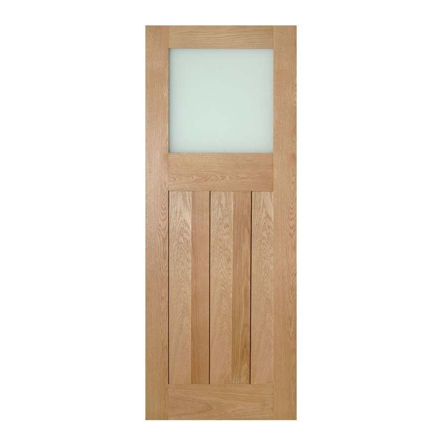Deanta Cambridge 1981mm x 762mm Glazed Internal Oak Door Unfinished
