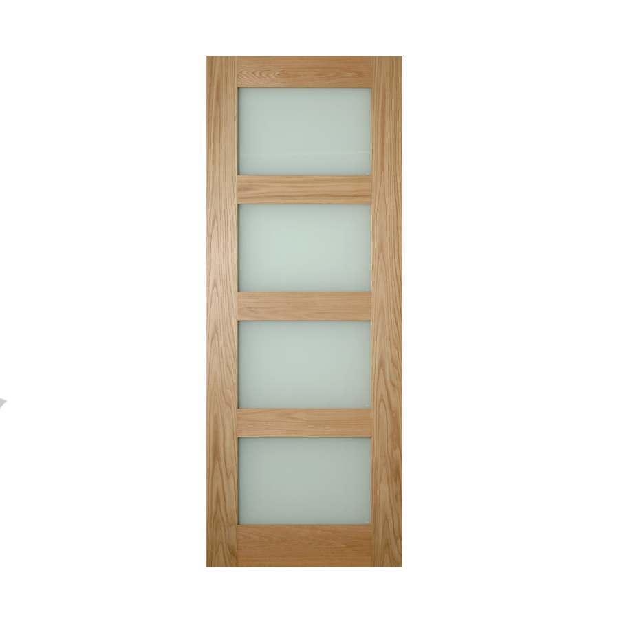 Deanta Coventry 1981mm x 838mm Obscure Glazed Internal Oak Door Unfinished