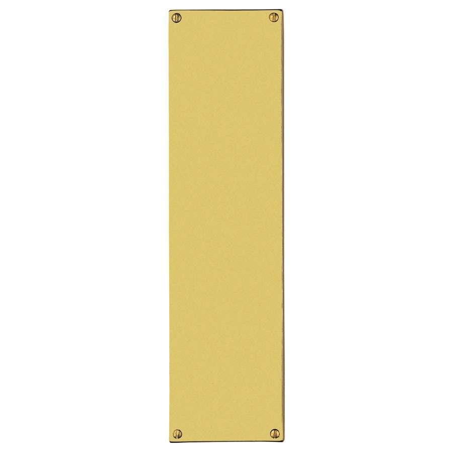Carlisle Brass Flat Sheet Finger Plate Polished Brass