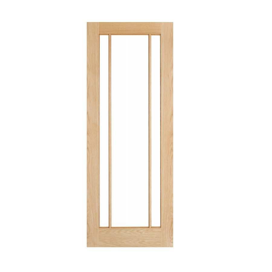 Deanta Norwich 1981mm x 762mm Glazed Internal Oak Door Unfinished