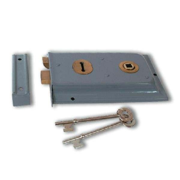 Yale P334 2 Lever Rim Lock Grey Enamel