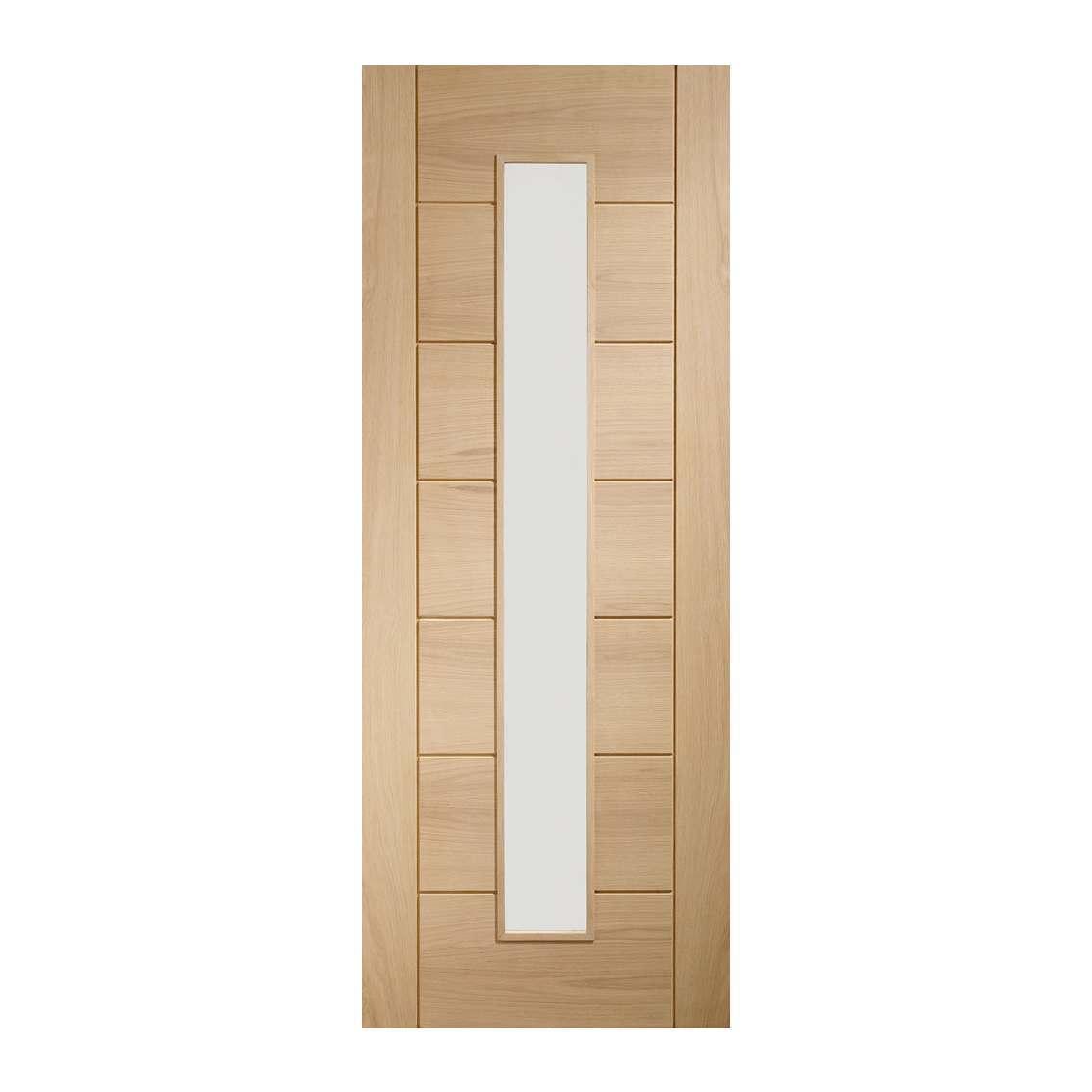 XL Joinery Palermo 1981mm x 762mm Clear Glazed Internal Oak Door Pre-finished