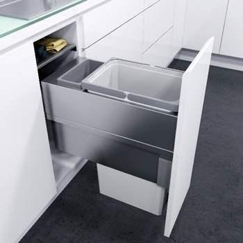 Hafele VS Oeko XXLiner Waste Bin For 400mm Wide Cabinet