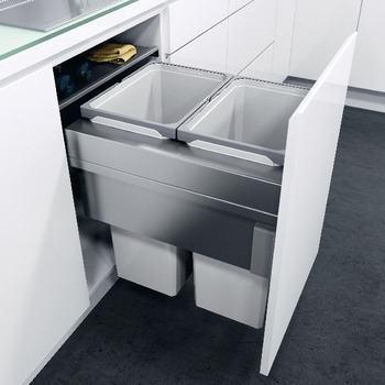 Hafele VS Oeko XXLiner Waste Bin For 500mm Wide Cabinet