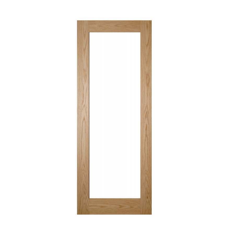 Deanta Walden 1981mm x 686mm Clear Glazed Internal Oak Door Unfinished